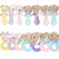 Wholesale lovely new born infant baby birthday cuddle toy gift sets