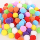 Colorful 1Cm/2Cm/3Cm Pompom Ball Toy Polyester/Cotton/Polyamide Pom Pom Balls For Children