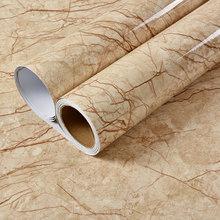 Самоклеящаяся настенная бумага для ванной комнаты, виниловая контактная бумага с мрамором(Китай)