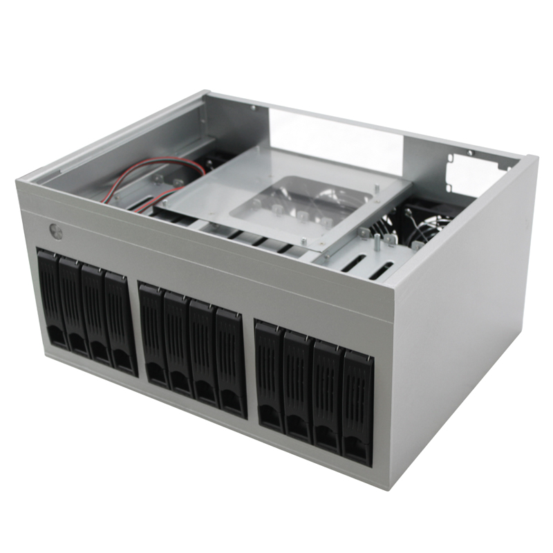 Wholesale factory price 12 bay synology nas server case network nas storage server mini itx case