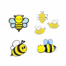 Custom cartoon pins metalen bee harde email revers pin insect pin