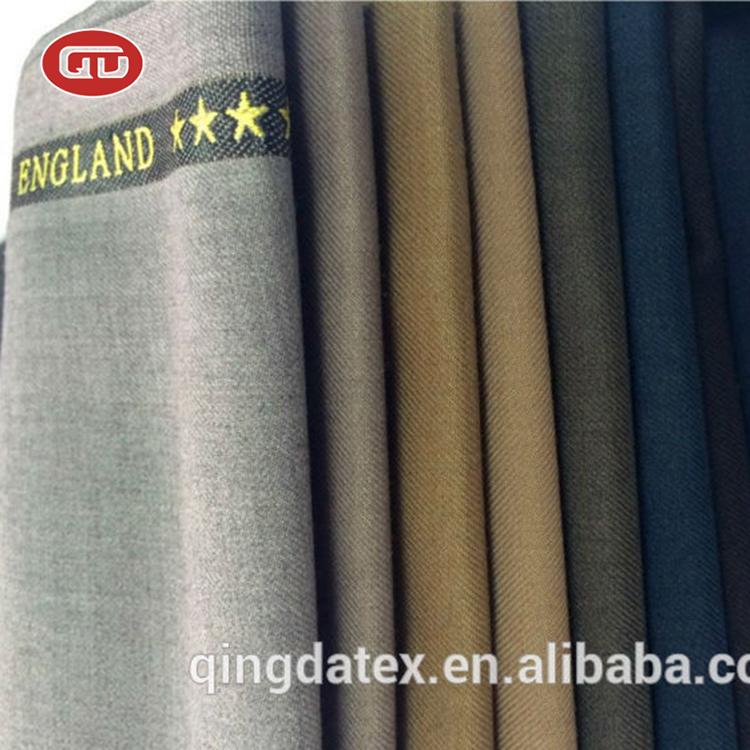 High quality dubai textile wholesale man coat TR selvedge shiny suit fabric