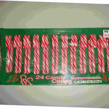 12g ChristmasStick Candy Canes in scatola