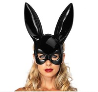 wholesale women girl Black Sexy Mysterious Rabbit Ears Mask Bondage Mask Halloween Masquerade Party Cosplay Costume Props