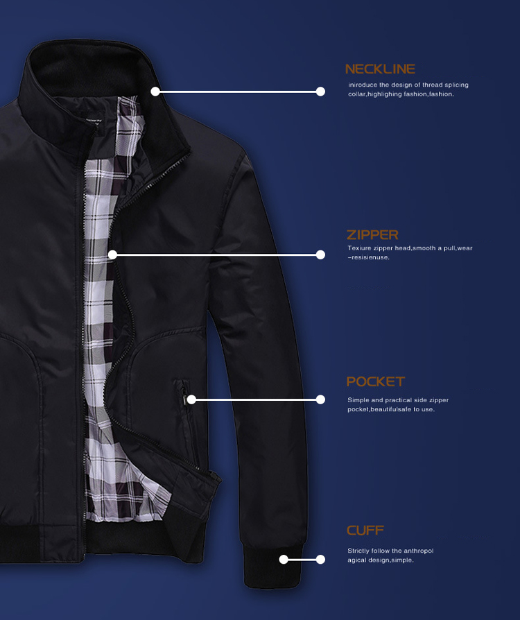 Men Casual Jacket 2020 Fashion MenのAutumn Utility Half Gents Parka Plaid Clothes Winter Man Jacket