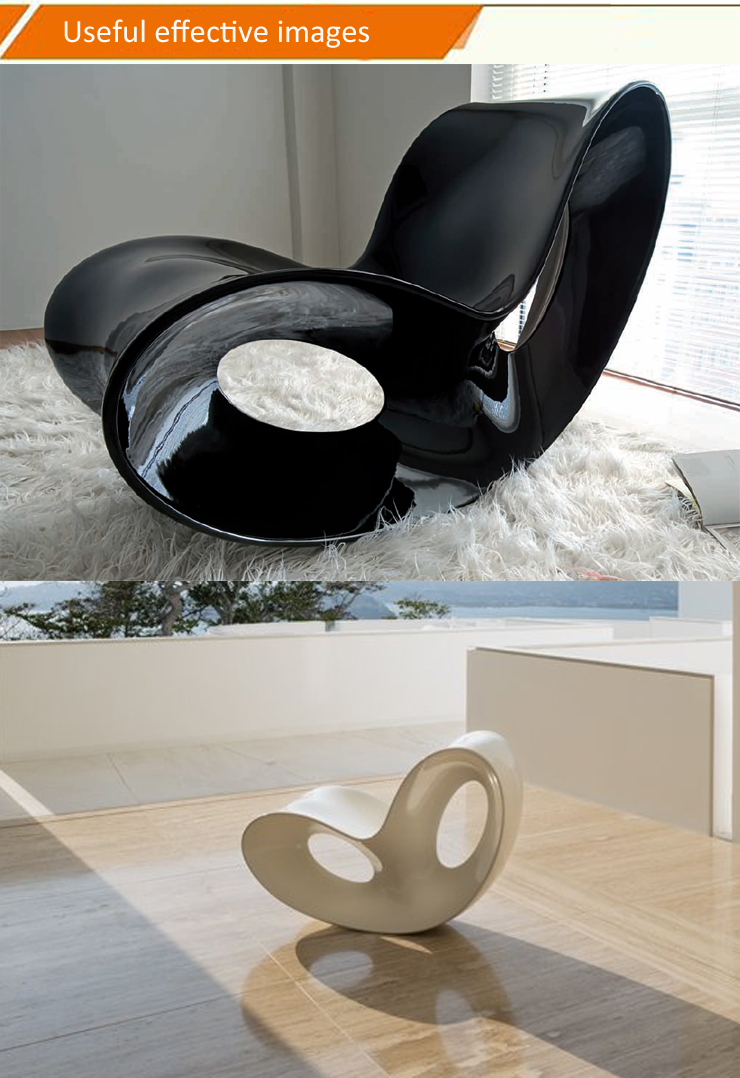 Modern comfortable Ron Arad Butterfly Voido Inspired Rocking Chair