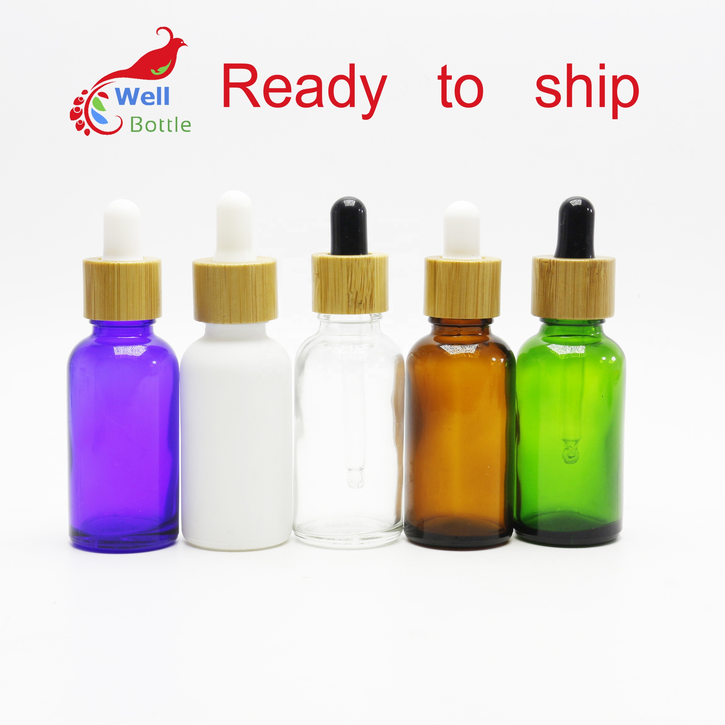 5ml 10ml 15ml 20ml 30ml 50ml 100ml blue green clear amber bamboo essential oil <strong>bottle</strong> bamboo dropper <strong>bottle</strong> GDB-8888A