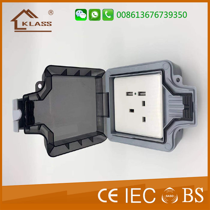 Ip66 Industrial Waterproof Box Switched Socket 1gang 2gang 13amp Weatherproof Switch Waterproof