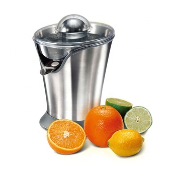 85W Stainless Steel Citrus Juicer, Anti-Drip Spout, Two Interchangeable Cones Work with All Size of Citrus Fruits