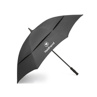 High Quality Golf Umbrella Black Custom Welcome