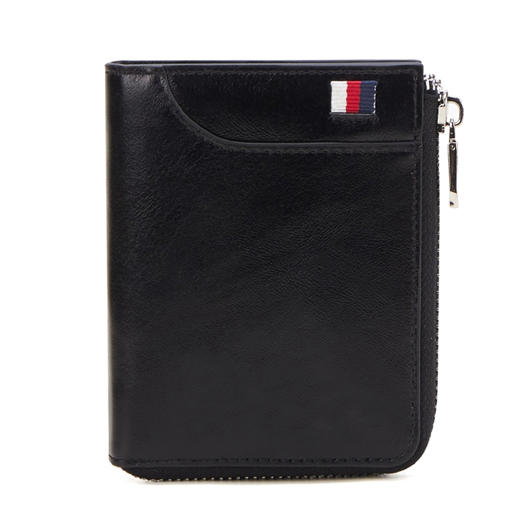 Wholesaler 100% Genuine Leather Men's Short <strong>Wallet</strong> RFID Multifunctional Card Case