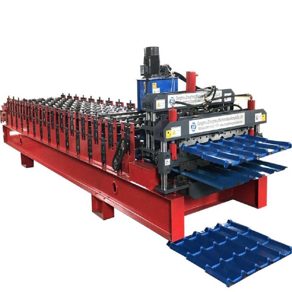 Goede Kwaliteit Metalen Dakplaat Corrugating Iron Sheet Roll Forming Maken Machine Koud Verzinken Lijn Voor Verkoop
