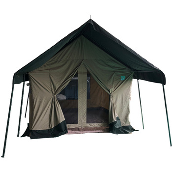 luxury cotton canvas glamping wall tent outdoors oxford safari tent stove jack chimney hole