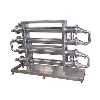 Food grade high viscosity cool shell and jam tube exchanger sauce tomato puree stainless steel heat exchanger