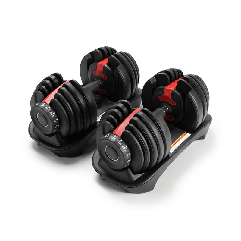 Hot selling adjustable dumbbell set 24KG gym equipment 40KG dumbbell weights