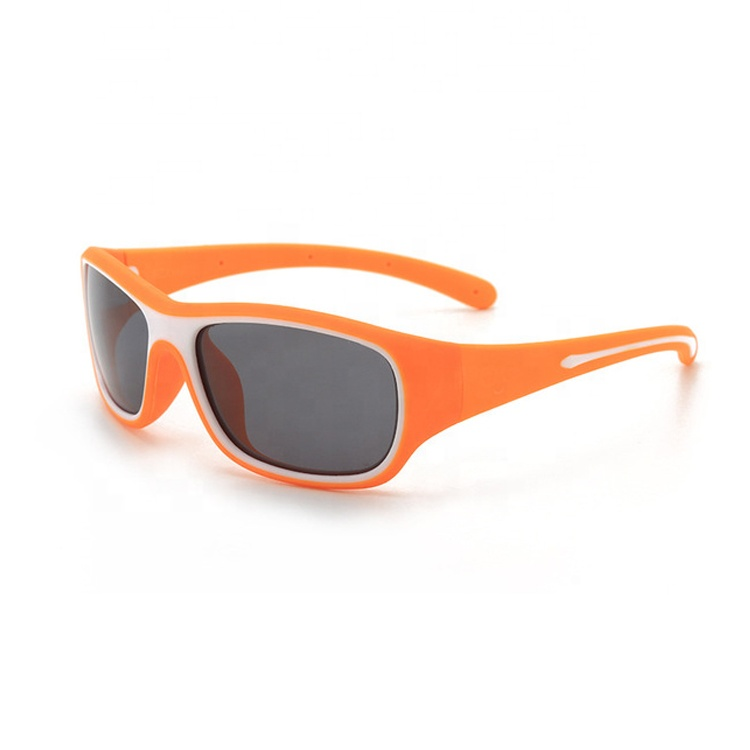 Wholesale fashion quality uv400 oem custom flexible silicone children kids sunglasses sun glasses