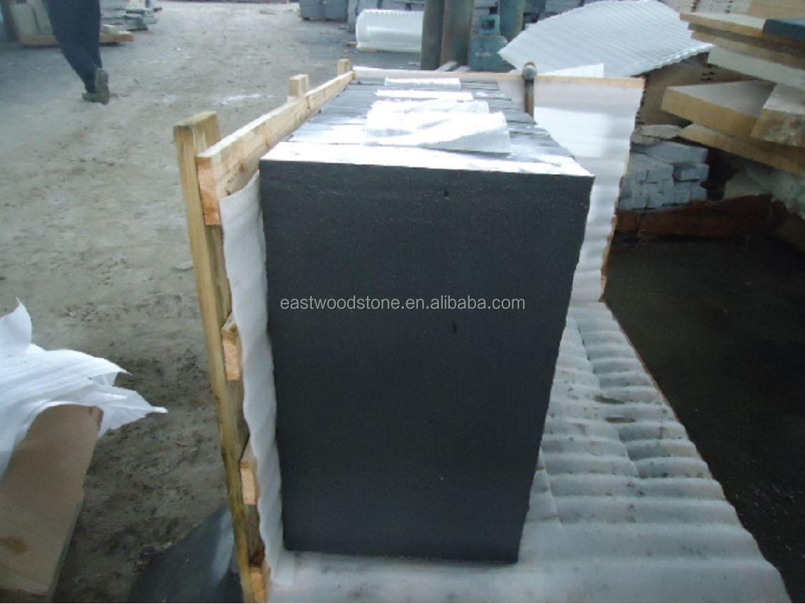 black sandstone paver in flamed finish