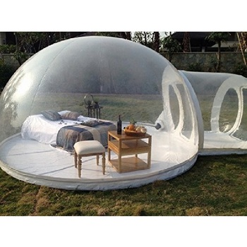 Life Size Snow Globe Clear Inflatable Dome For Christmas Decoration