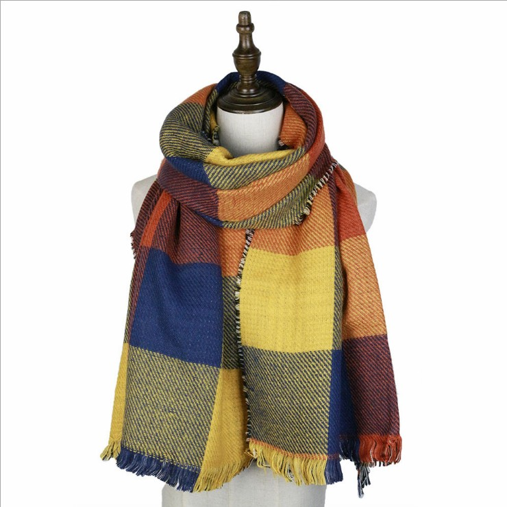 woven double side long hair scarf warm shawl women long love scarf shawl poncho