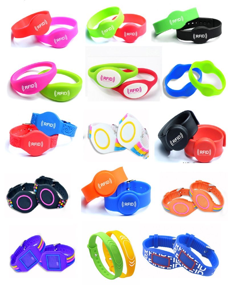 Clossed-loop Arrotondato Impermeabile In Silicone RFID Wristband 125 Khz TK4100/EM4100/EM4200/EM4305/T5577