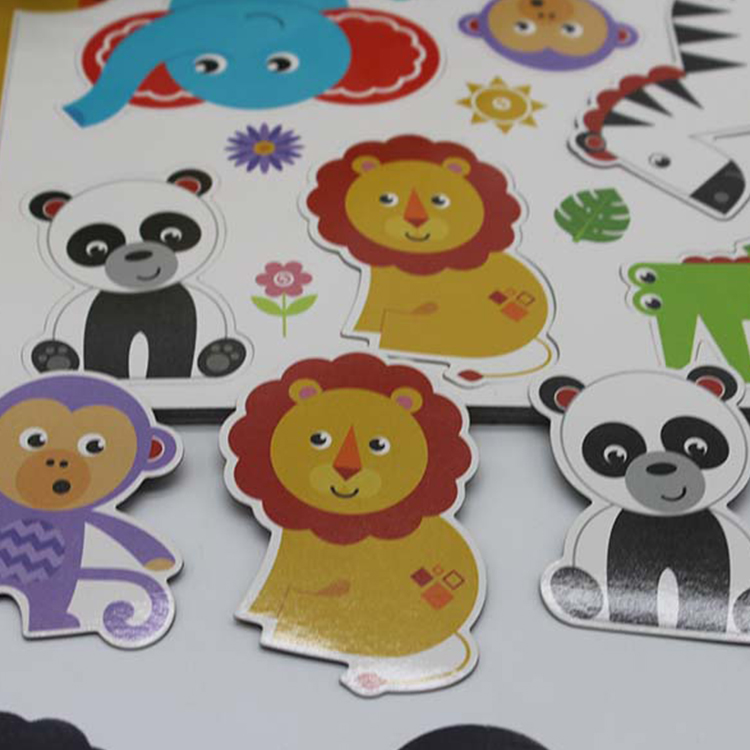 OEM Custom Printed Full Color Cartoon Fridge Magnetic Sticker, Freezer Magnet Sticker