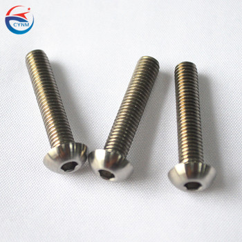 China supplier manufacture 99.95% pure machined parts  molybdenum cutting  screws price