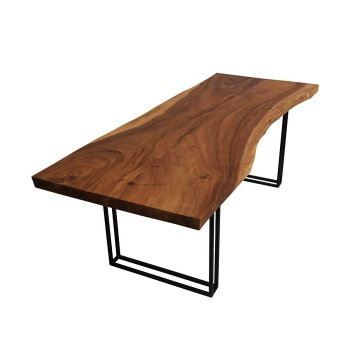 Furniture Modern Metal Legs Live Edge Slab Solid Acacia Wood Dining Table Cheap Price Buy Live Edge Table Dining Table Live Edge Dining Table Product On Alibaba Com