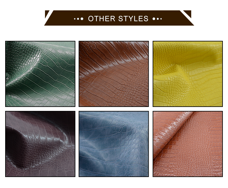 Imitation cloth pattern two-color effect 0.9mm PVC leather used for women bag