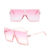 unique fashion 2020 women shades big square sunglasses oversized