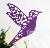BK13 Bird design laser cut party supplies paper glass cup cards