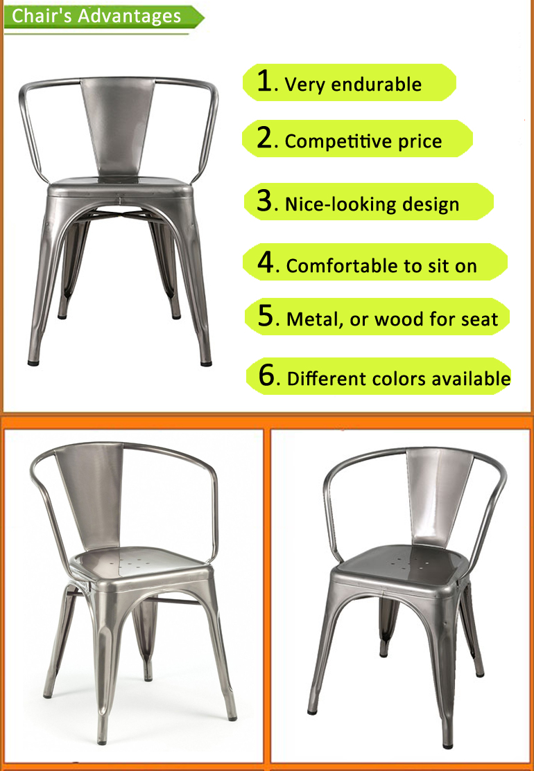 Cheap copper vintage style industrial dining garden outdoor metal frame restaurant used french metal chair