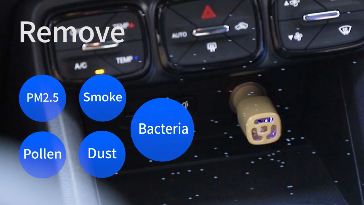 2020 New Products Best Price Colorful Mini Portable Smart Room Air Ionizer Car Air Cleaner Purifier JO-6272
