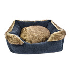 New Design Guarantee The Quality Long Plush Stuffed Pet Dog Bed
