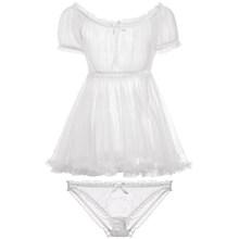 Сексуальное прозрачное ночное белье, женское нижнее белье, летнее Ночное платье, прозрачное белье, ночная рубашка, мини-платье для сна с стр...(Китай)