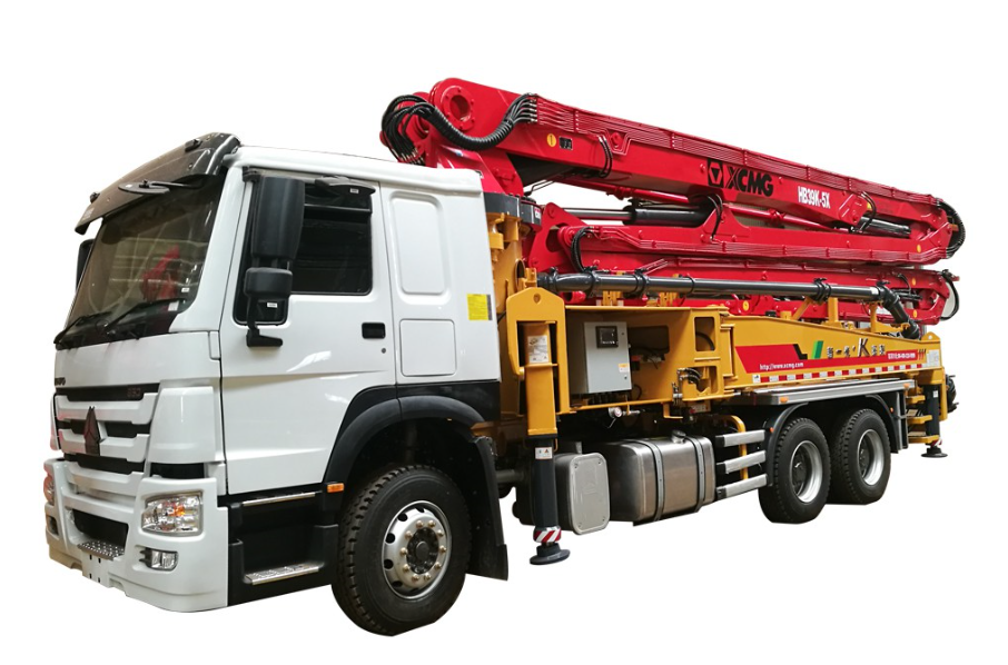 China top brand XCMG small pump concrete machine HB39K with boom for sale in philippines