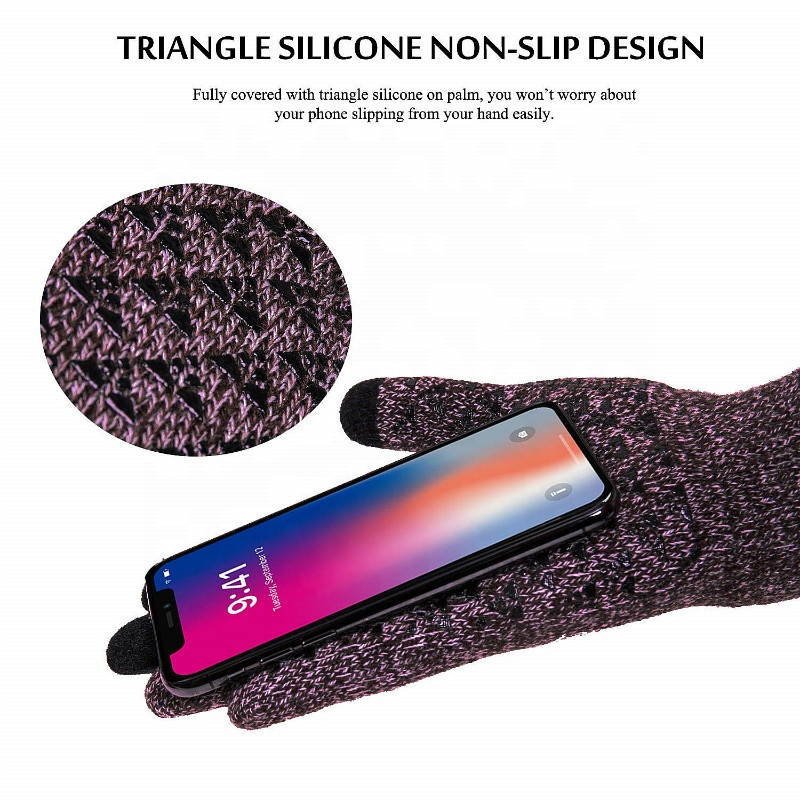 Fashion Unisex Men Women Anti Slip Thermal Touchscreen Magic Knit Smartphone Texting Driving Cycling Touch Screen Winter Gloves