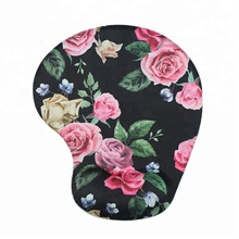 Beautiful new design colorido original flores sílica gel descanso de pulso <span class=keywords><strong>mouse</strong></span> pad