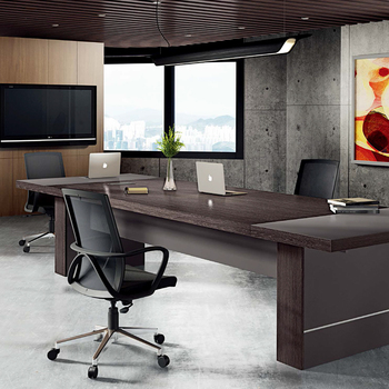 Classic wooden 4/6/8 persons office+desks big thickened conference table for meeting room