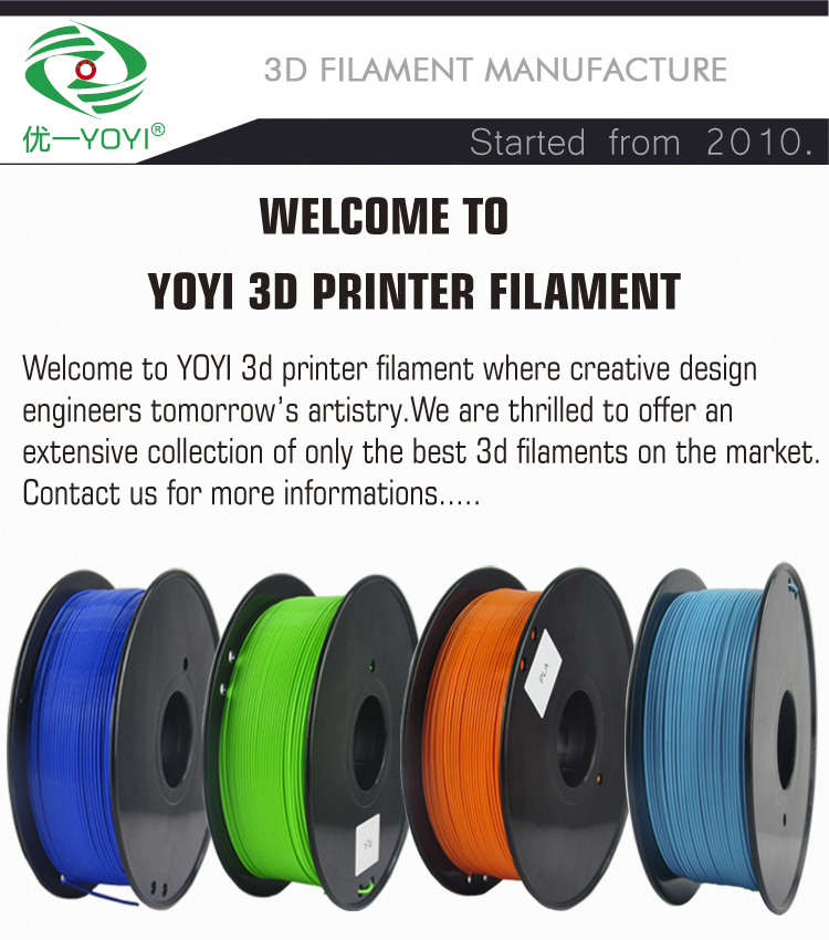 YOYI fabriek prijs 1.75mm pla en abs 3d printer filament extruder voor 3d printer