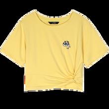 Elfsack черный забавный графический принт Повседневное футболка Для женщин топы 2020 летние бело-серые желтого цвета в Корейском стиле Новые Жен...(China)