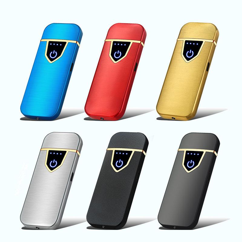 Mini USB Charging Lighter Metal Windproof Rechargeable Lighter Matte Texture Electric Coil Lighter