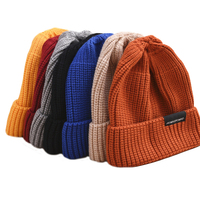 Factory wholesale fashion label beanie cap, custom winter knit hats women/men
