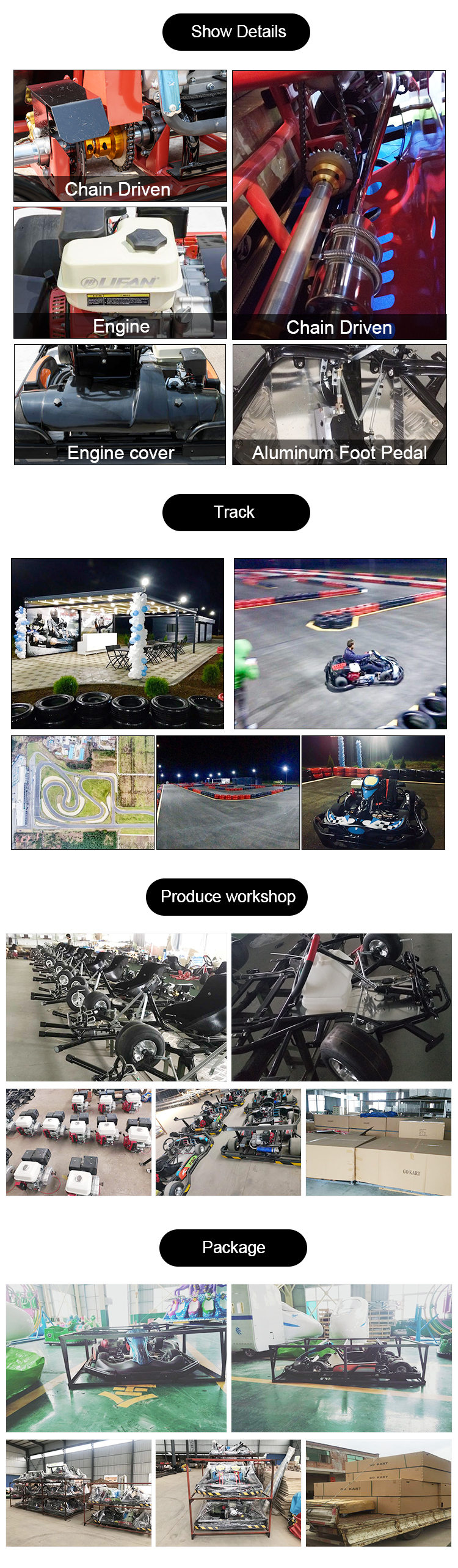 high quality new design playground racing games go kart Electric Go Kart for Kids and adults