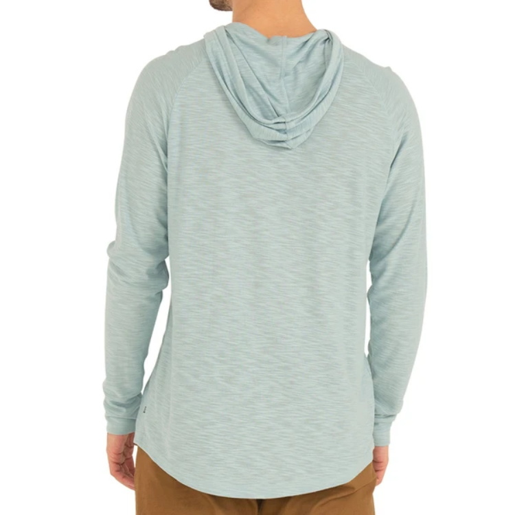 Custom mens pullover unbranded bamboo slub hoodie without pocket