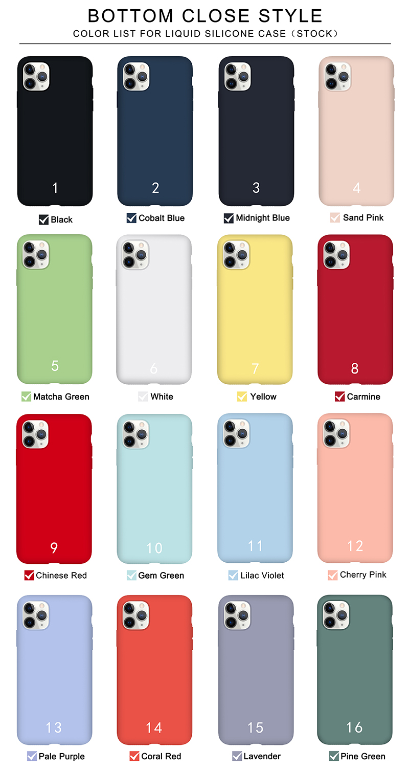 2020 Top Selling Phone Cover For iPhone 11 PRO MAX Case Elastic Shockproof Silicone iPhone SE2 Case Microfiber Cloth inside