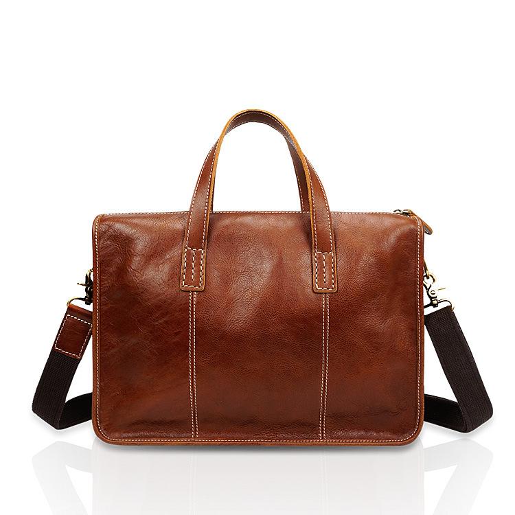 Schwarz Freitag Spezielle Business leder herren handtasche leder retro aktentasche mode lässig umhängetasche