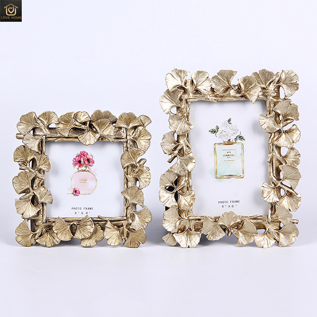 Ginkgo Leaf <strong>Frame</strong> <strong>Vintage</strong> Resin <strong>Frame</strong> Wedding Graduation Photo <strong>Frame</strong>