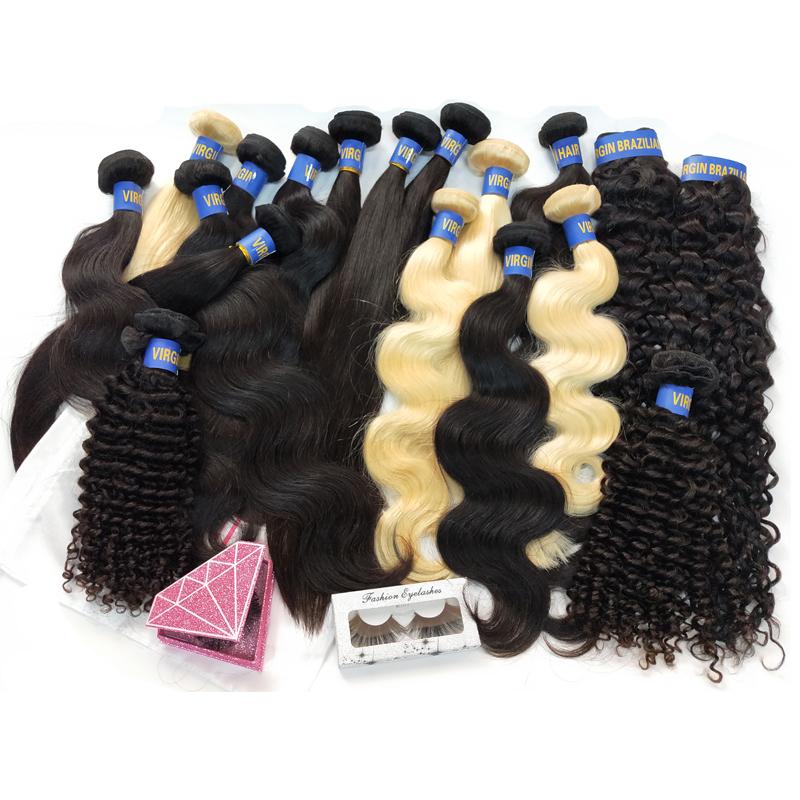 도매 처리되지 않은 8-32 인치 100% 버진 인간의 자연 색상 원시 처녀 표피 정렬 머리