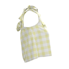 Simple Summer 100% Cotton Yellow Checker Women Tank Top Casual Sleeveless Crop Tops For Young Ladies