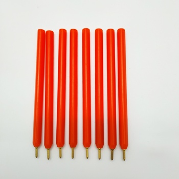 Promo Mini Small Orange Triangle Shaped Ball Pen High Quality Cheap Short 9.5 cm Triangle Ballpoint Pen